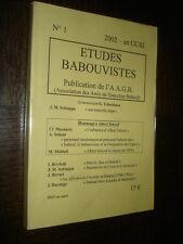 ETUDES BABOUVISTES - N°1 - 2002 - Gracchus Babeuf