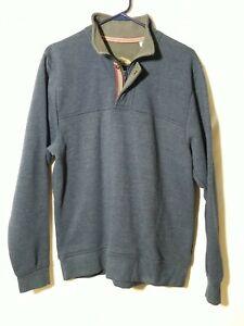 Orvis Men's Signature 1/4 Zip Pullover Sweater Sweatshirt M Dark Navy Blue nice
