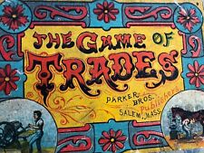 Antique 1889 Parker Bros Game Of Trades Game with Instructions