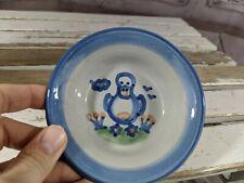 M A Hadley duck bird 4.5″ mini dish bowl trinket MA pottery country blue