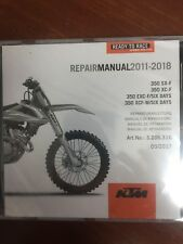 KTM REPAIR MANUAL 350 SX-F, XC-F, EXC-F/XCF-W SIX DAYS,  2011-2018 KTM #3206316