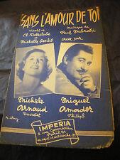 Partition Sans love de toi Arnaud Amador 1957 Music Sheet