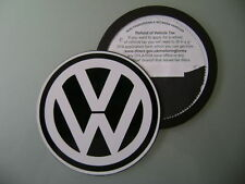 Magnetic Tax disc holder fits any volkswagen vw golf polo passat touran white lg