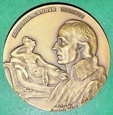 EMPEROR NAPOLEON/NUDE BIG BRONZE MEDAL BY A.R. AND A.V. (M.6a)