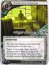 Android Netrunner LCG - 1x Power Grid Overload  #035 - Cyber War Corp Draft Pack