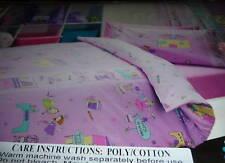 GIRLS FAIRY SCHOOL SINGLE BED QUILT/DOONA COVER SET NEW