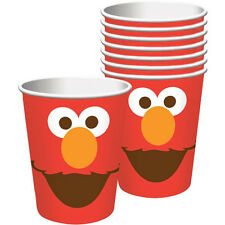 SESAME STREET Elmo Turns One 9oz PAPER CUPS (8) ~ Birthday Party Supplies Drink