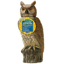 Natural Scarecrow Action Owl Bird Pest Control 18.5 Inch Dalen Products Sol-R