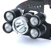 50000LM Waterproof Headlight 5X T6 flashlight rechargeable headlamp Torch Lamp