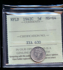 1942 Newfoundland 5 Cents ICCS Certified MS64  IC12
