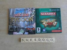 MONOPOLY TYCOON & SPECIAL EDITION SCRABBLE 2 PROMO INTERACTIVE PC CD-ROM GAMES