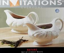 INVITATIONS EVERYDAY SET OF 2 GRAVY BOATS