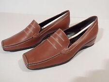 Brunella Ladies Brown Leather Shoes EU 34.5 UK 2.25 Italian