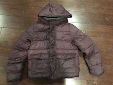 ABERCROMBIE Kids Hooded Puffer Jacket Coat, 13/14, Fleece Lined, Burgundy Red
