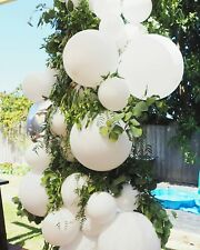 White Balloons 3 ft giant round large giant balloons wedding bride latex pack 6
