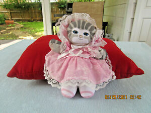 "1989 Applause 10"" Dolly Tabby Cat Dusty Schear Doll"