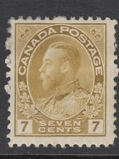 Canada 1914 7c. pale sage-green, Mounted mint (SG207)