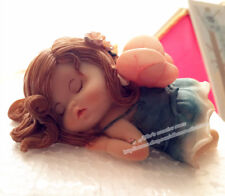 Fairy Tale Sleeping Elfs Baby Resin Statue, Cute Angel Garden Figurine