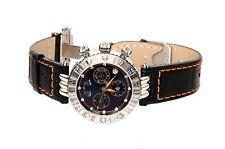 Seah Limited Edition 18K Galaxy Zodiac Libra Navy Silver Watch 0372