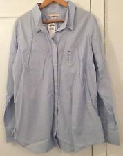 Ladies 2 x Old Navy (GAP family brand) Blue Long Sleeve Shirts Size XXL - BNWT