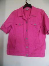 Dressbarn  Pink Short Sleeve Jacket  Size XL
