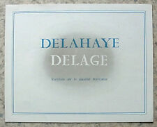 DELAHAYE DELAGE Car Sales Brochure c1951? FRENCH TEXT   135M 135MS 148 235 D6 ++