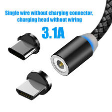 IG_ For Android iPhone 1/2m 3.1A Micro USB Type-C Magnetic Fast Charging Data Ca