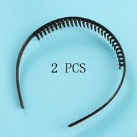 PCool Mens Metal Toothed Sports Football Soccer Hair Headband band Black