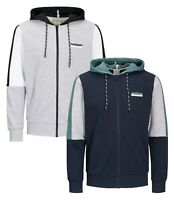 JACK & JONES Zip Up Mens Sporty Gym Overhead Hoodie Casual Hooded Sweatshirt Top