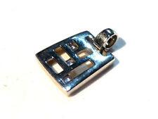 Bijou alliage argenté pendentif cristal bleu Pierre Lang pendant
