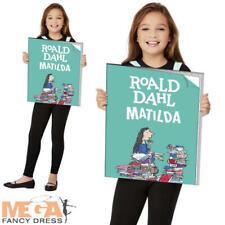 Roald Dahl Matilda Book Cover Girls Fancy Dress World Book Day Week Kids Costume