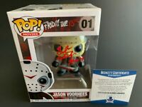 Ted White Autographed Friday The 13th Jason Voorhees Funko POP Signed BAS COA
