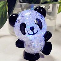 3D lindo Panda Crystal Puzzle rompecabezas bricolaje IQ intelectual juguete