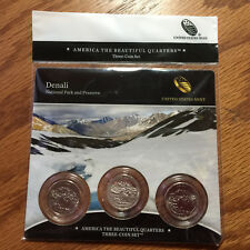 2012 Denali Three-Coin 3-Coin 3 America Mint Set N85 LOW MINTAGE ATB Quarter