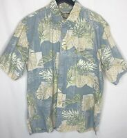 Cooke Street Hawaiian Aloha Shirt Men's L Cotton Tropical Inside Out Faded
