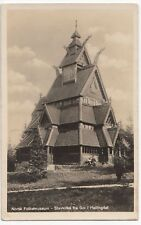 Norway; Folk museum, Bygdøy, Stave Church RP PPC, Unposted, c 1930s