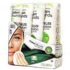 Delon+100% Cotton Cleansing Rounds Premium Cosmetic Makeup Remover Pack 800 Pads