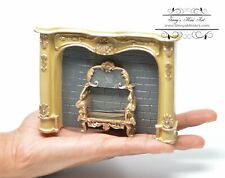 1:12 Dollhouse Miniature Creme Marble Fireplace RP1.859/3