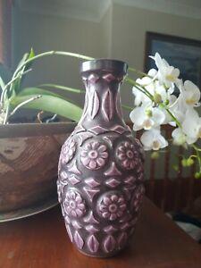 Rare Purple West German Vase  22cm High Perfect