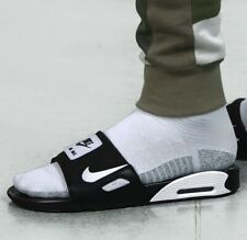 NWT Nike Air Max 90 Slides Men's Size 10 US Sandals Black White BQ4635-002