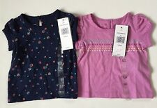 Tommy Hilfiger Baby Girl Top Set of Two 3-6 Months T-sirt Each Msrp:16.50 Nwt
