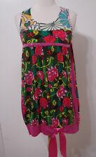 6d046ab2493f8 Desigual Multicolore Fleur Sequin Cravate Satin Robe sans Manches M Nwot  Inde