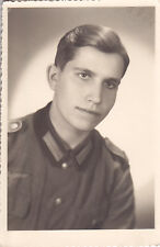 Portraitfoto Schütze Wehrmacht rückseitig Stempel Foto Malik. Ostrowo Wielkopols