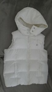 Doudoune sans manche blanche Benetton manteau blouson anorak ski hiver