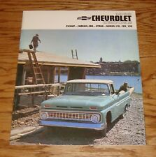 1963 Chevrolet Truck Pickup Chassis-Cab Stake Sales Brochure 63 Chevy