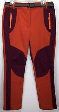 WindStopper Soft Shell Winter Pants Women's XXL (32x30) Purple Orange Ski Fleece