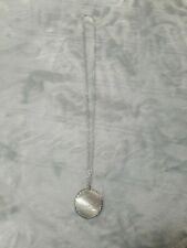 Norwegian Ship Necklace Silver Disc Engraved With