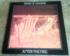 AFTER THE FIRE signs of change 1975 UK RAPID STEREO VINYL LP + INSERT
