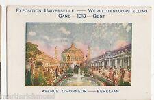 Exposition Universelle de Gand 1913, Avenue d'Honneur Eerelaan Postcard, B505