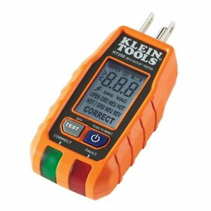 Klein Tools RT250 GFCI  Receptacle Tester with LCD Display